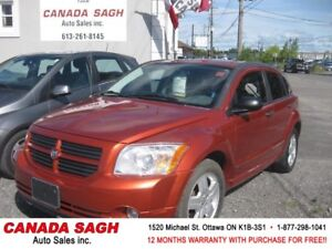 2007 Dodge Caliber SXT, AUTO/ROOF/ 129km, 12M.WRRTY+SAFETY $4490