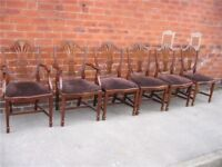 set of six fine Sheraton reproduction dining chairs.