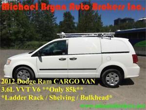 2012 DODGE RAM CARGO VAN *ONLY 85K* LADDER RACK/SHELVING *RARE*