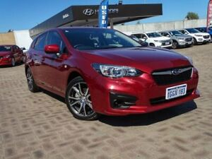 2017 Subaru Impreza G5 MY17 2.0i CVT AWD Red 7 Speed Constant Variable Hatchback Morley Bayswater Area Preview