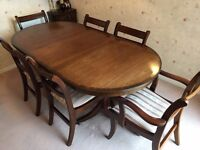 Mahogany Dining Table and Chairs x 6 for SALE - £200 ONO