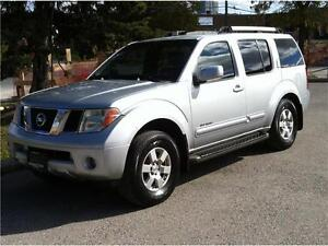 2005 NISSAN PATHFINDER SE OFF ROAD 4X4 - 7 PASS|LEATHER|TOW PKG