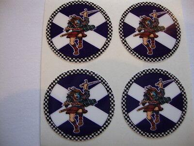 "12 SCOTLAND HIGHLANDER  CROWN GREEN BOWLS STICKERS  1""  LAWN BOWLS INDOOR BOWLS"