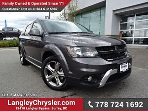 2016 Dodge Journey Crossroad ACCIDENT FREE w/ AWD, LEATHER &...