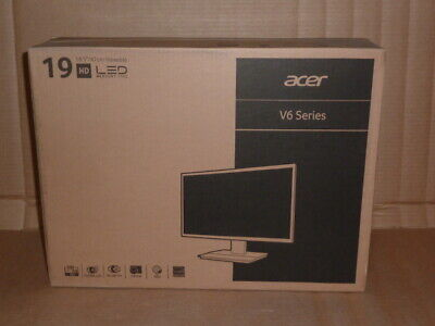 "Acer V6 Series  Black 19"" 5ms Widescreen LED Backlight HD V196HQL NEW"