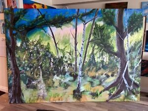 large oil/acrylic orinal painting