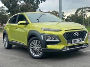 2019 Hyundai Kona OS.2 MY19 Elite 2WD Acid Yellow 6 Speed Sports Automatic Wagon Nailsworth Prospect Area Preview