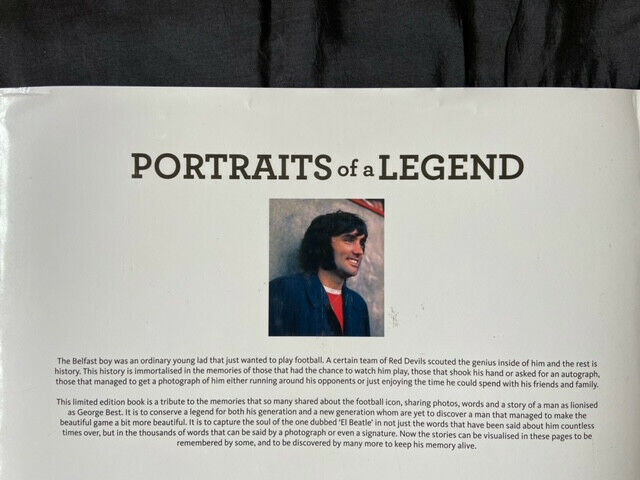 """George Best """"Portraits of a Legend"""" Limited Edition Hardback Book"""