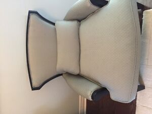 A pair of designer wing arm chairs-2 chairs for $700