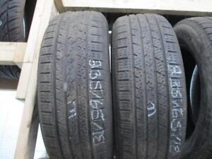 225/65R17 2 ONLY USED CONTINENTAL A/S TIRES
