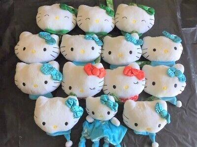 Hello Kitty Plush Stuffed Heads ( lot of 14 )