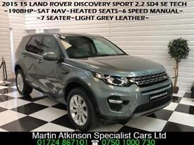 2015 15 Land Rover Discovery Sport 2.2 SD4 SE Tech 4X4 Manual 7 Seater