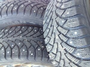NORDIAN Winter Tires  225 / 60R / 16  with Rims & Studs Gatineau Ottawa / Gatineau Area image 1