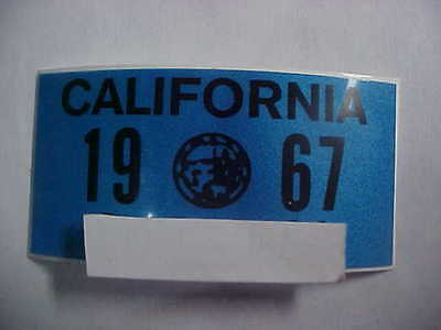 1967 california license plate registration yom sticker for the 1963 plates