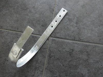 Rinneneisen Rinnenhaken Rinnenhalter Rinneisen größe 6tlg 40//5mm Stärke verz NF