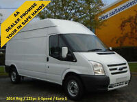 2014/ 14 Ford Transit 2.2TDCi 125 350L High Roof panel van Rwd
