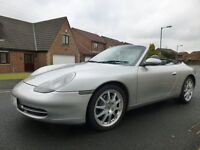 PORSCHE 911 (996) CARRERA 4 CONVERTABLE, SILVER, 87,416 MILES, 12 MONTHS M.O.T. GOOD SERVICE HISTORY