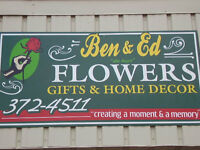 "FOR SALE Ben & Ed "" da boys "" Flowers. Gifts & Home Decor Shop"