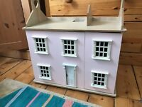 Gorgeous big wooden doll's house and all furniture and car