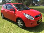 2011 Hyundai i20 PB MY11 Active Red 5 Speed Manual Hatchback Tuggerah Wyong Area Preview