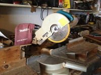 "10"" Makita Sliding Mitre Saw and Bench Stand"