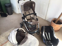 Icandy Cherry Brown Travel System/pushchair with Maxy Cosy Carseat