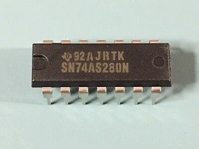 Lot Of 100 New Texas Instruments Sn74as280n Ic 9-bit Genchker 14 Dip