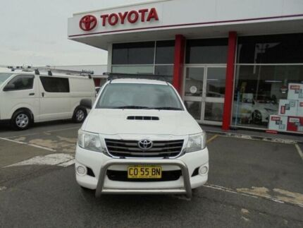 2012 Toyota Hilux KUN16R MY12 SR Glacier White 5 Speed Manual