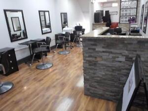 Hair salon closing down sale / barber chairs / salon stations / reception desk / hair salon shampoo unit / air condition