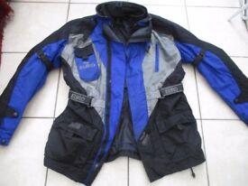 """mens Euro Reissa/Teflon cordura motorcycle jacket size 38"""" chest"""