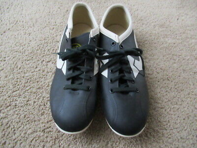 DEADSTOCK VINTAGE Wilson Football Cleats Shoes Black White USA Mens Soccer ()