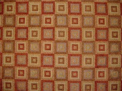 Windows Spice Fabric (Drapery Upholstery Fabric Abstract Window Pane Chenille -)