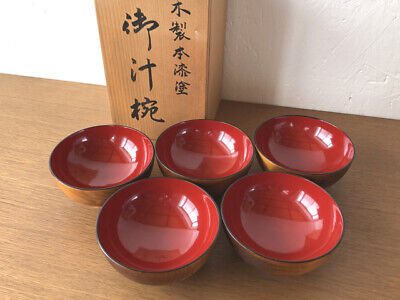 Monrocco 2 Sets Wooden Bowl and Spoon Dinnerware Set for Rice Miso Serving