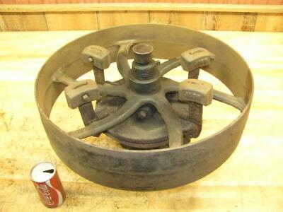 Antique Hit Miss Gas Steam Engine Flat Belt Pulley Line Shaft Governor Clutch