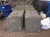 11 Paving slabs 60 x 60 cms