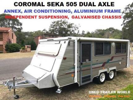 COROMAL SEKA 18' DUAL AXLE POP TOP CARAVAN WITH AIR CONDITIONING