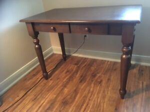 Cherry wood laptop or writing desk