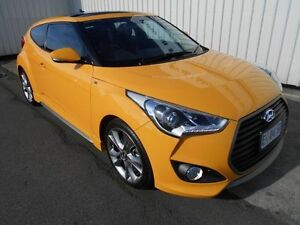 2015 Hyundai Veloster FS4 Series 2 SR Turbo Sunflower 7 Speed Auto Dual Clutch Coupe South Burnie Burnie Area Preview