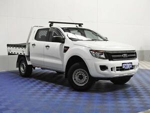 2012 Ford Ranger PX XL 2.2 (4x4) White 6 Speed Manual Crew C/Chas Jandakot Cockburn Area Preview