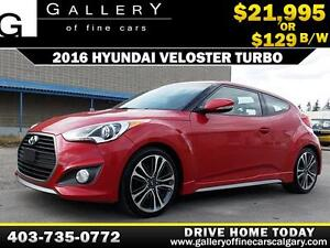 2016 Hyundai Veloster Turbo $129 bi-weekly APPLY NOW DRIVE NOW