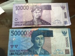 indonesian rupees- Going to Bali - Roupies  indonesiens