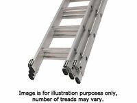 Youngman Aluminium Extension Ladder 3 Section 3.66m - 9.17m Safe working Height 9.32m
