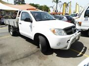 2006 Toyota Hilux GGN15R MY05 SR 4x2 White 5 Speed Manual Cab Chassis Minchinbury Blacktown Area Preview