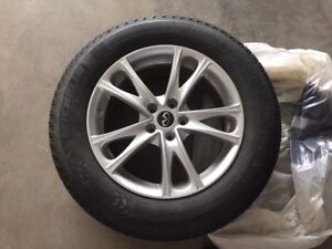 Infiniti JX35, Set of four 235/65 R18 Winter Tires and Rims