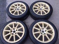 """2014 Subaru Sti 17"""" Alloy Wheels with new tyres"""