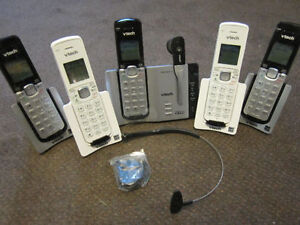 6 Panasonic or Vtech Home Phone Sets with Bluetooth/Link-to-Cell Kitchener / Waterloo Kitchener Area image 8