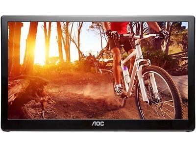 """AOC E1659FWU 15.6"""" USB 3.0 USB-powered portable monitor w/ case, HD 1366x768, 8m"""