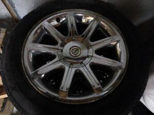 """4 Jantes 18"""" Chrome 300C avec pneu Michelin X-ice 225 60R 18"""