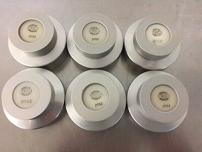 Lot Of 6 International Electronic Components Iec 2052 Aluminum Caps