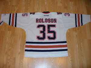 Autographed Dwayne Roloson 2006 Stanley Cup Oilers Jersey